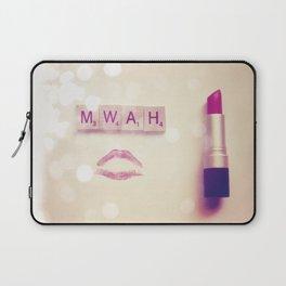 MWAH Lipstick Rose Scrabble Laptop Sleeve