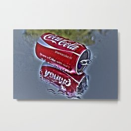 Chilly cola in the hot summer day  Metal Print