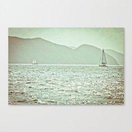 Water & Sails - British Virgin Islands Canvas Print