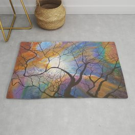 Space Tree Galaxy Painting Orion's Nebula Original Art (Dust in the Wind) Rug