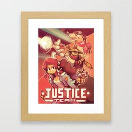 Justice team Framed Art Print