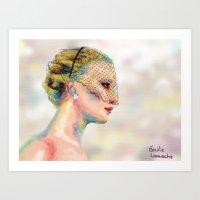 jennifer lawrence Art Prints featuring Jennifer Lawrence by Pandora's Box Design Co.