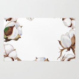 Cotton Flower Frame 01 Rug
