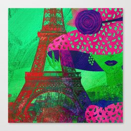 Mademoiselle Paris Canvas Print