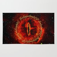 star lord Area & Throw Rugs featuring Sauron The Dark Lord by neutrone