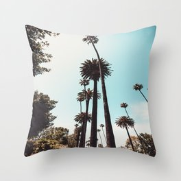 Beverly Hills California Palms Los Angeles Throw Pillow