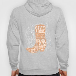 Give a Girl the Right Pair of Boots Graphic Country T-shirt Hoody