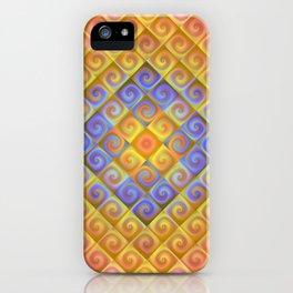 Spirals in Squares iPhone Case