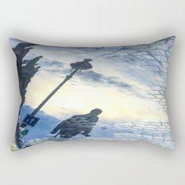 Walking Into Brickroad Sunset Rectangular Pillow