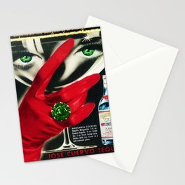 1962 Jose Cuervo Tequila 'Green Motif' Advertisement Poster Stationery Cards