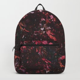 Red leaves in Harris Park London Canada Backpack