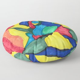 Stained Glass Eye Floor Pillow