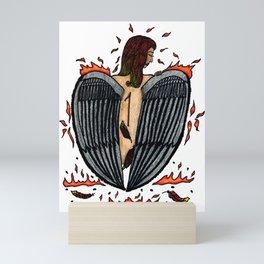 Brushing Off The Ashes Mini Art Print