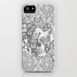 Ashes to Ashes lace skull iPhone Case