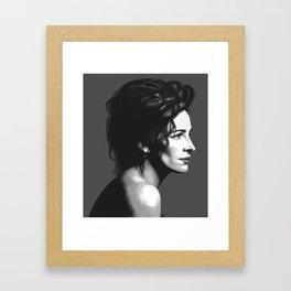 Julia Roberts Portrait Framed Art Print