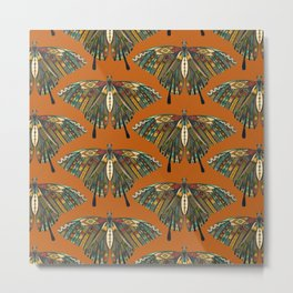swallowtail butterfly copper Metal Print