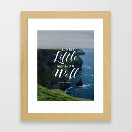 Cliffs of Moher - Irish Proverb Quote Framed Art Print