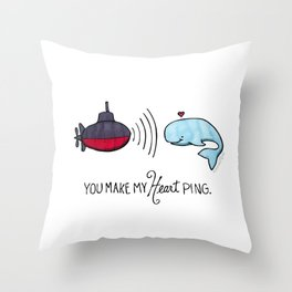 You Make My Heart Ping Throw Pillow
