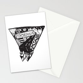 Psychoville black ink drawing Stationery Cards