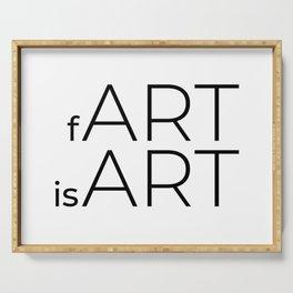 fArt is Art Serving Tray