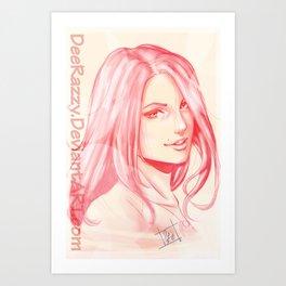Portriat Illustration  Art Print