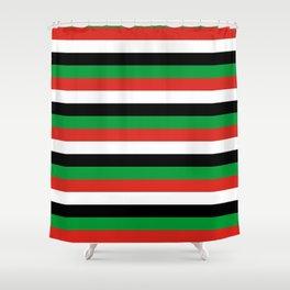 libya Sudan Syria United Arab Emirates Western Sahara flag stripes Shower Curtain