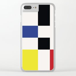 Minimal Squares II Clear iPhone Case