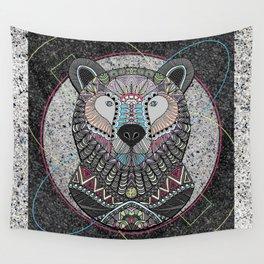 Neon Tribal Bear Wall Tapestry
