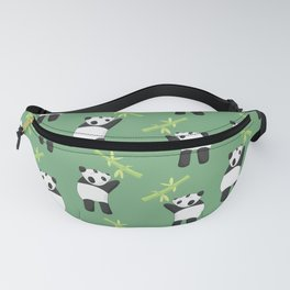 Panda trying to reach bamboo Fanny Pack