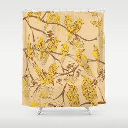 Feathered Friends Batik Shower Curtain
