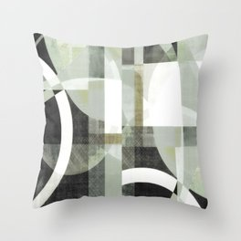 sage green art, sage green, boho art, mid century modern, geometric art, geometric print, abstract Throw Pillow