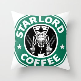 Star Lord Coffee Throw Pillow
