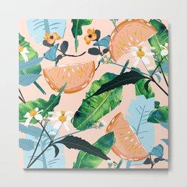 Summer Botanicals #illustration #pattern Metal Print