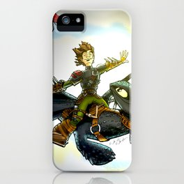 Hiccup & Toothless Flight iPhone Case