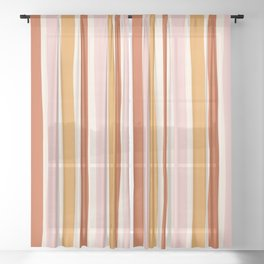 Terrace Sunset Stripe Sheer Curtain