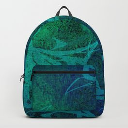 Turquoise Tribal Watermarks Backpack