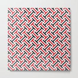 Geometric Pattern 213 (red black) Metal Print