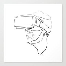 """Gaming Collection "" - Boy Wearing Virtual Reality Goggles Canvas Print"