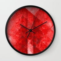 discount Wall Clocks featuring Ruby Nebulæ by Aaron Carberry