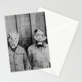 American, British, French, & German Gas Masks Stationery Cards