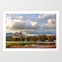 Ponte de Lima bridge Art Print