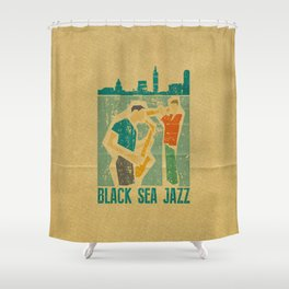 Black Sea Jazz Shower Curtain