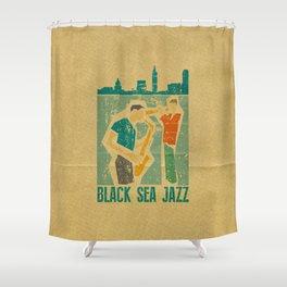 Black Sea Jazz Shower Curtain