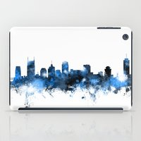 tennessee iPad Cases featuring Nashville Tennessee Skyline by artPause