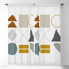 Mid West Geometric 02 Blackout Curtain