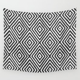 diamond painted-charcoal Wall Tapestry