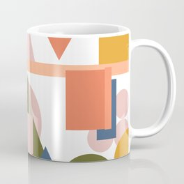 Folksy Geometric Abstract Landscape Coffee Mug