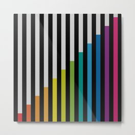 Stripes & Dots Metal Print