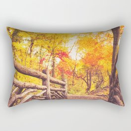 New York City Autumn in Central Park Rectangular Pillow
