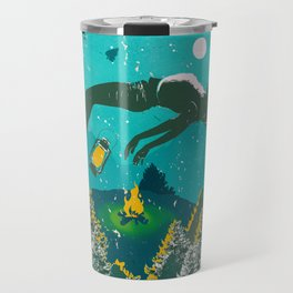 FLOATING FOREST BLUE Travel Mug
